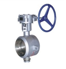 金属硬密封蜗轮对焊式蝶阀D363H-6C/10C/16C/25C